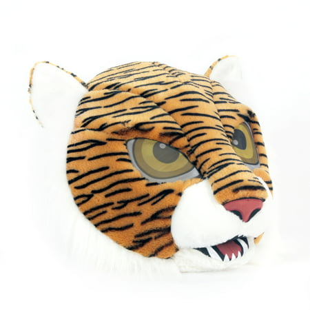 Maskimals Oversized Plush Halloween Mask - Tiger (Halloween Express Catwoman Mask)