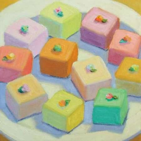 Petit Fours Stretched Canvas