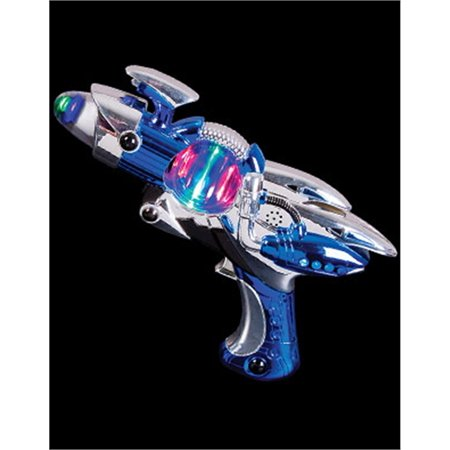 Super Spinning Laser Space Gun With LED Light & Sound( Colors may vary )