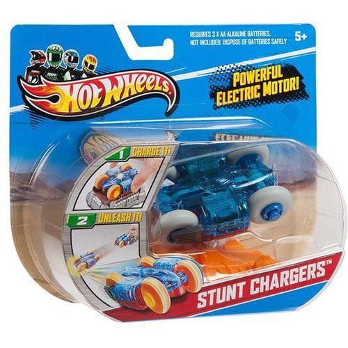 Hot Wheels RC Stunt Chargers Car, Blue