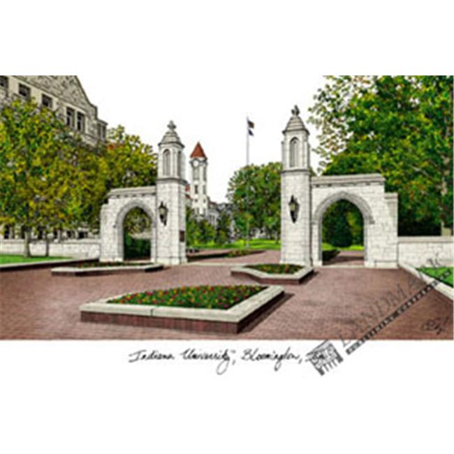Indiana University, Bloomington Campus Images Lithograph Print