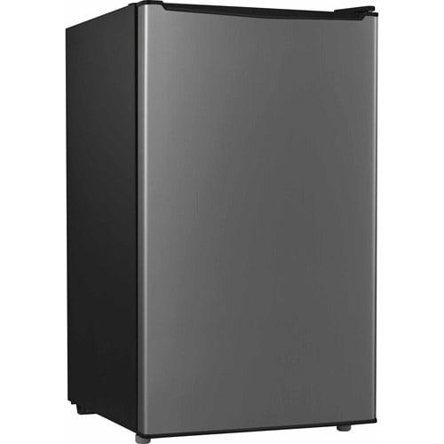 Galanz 3.5 Cu Ft Single Door Compact Refrigerator GL35S5, Stainless Steel Look