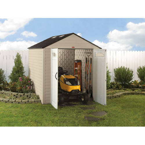 Rubbermaid 7u0027 X 10u0027 Storage Building, Maple