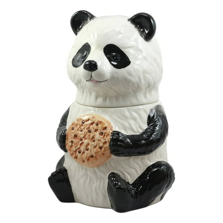 Ebros The Kung Fu Dragon Warrior Giant Panda Ceramic Cookie Jar 9.5