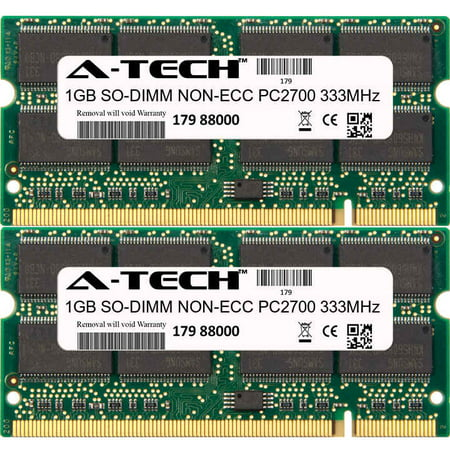 Pc 2700 Ddr Sodimm Module (2GB Kit 2x 1GB Modules PC2700 333MHz NON-ECC DDR SO-DIMM Laptop 200-pin Memory Ram)