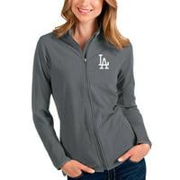 Los Angeles Dodgers Antigua Women's Glacier Full-Zip Jacket - Steel