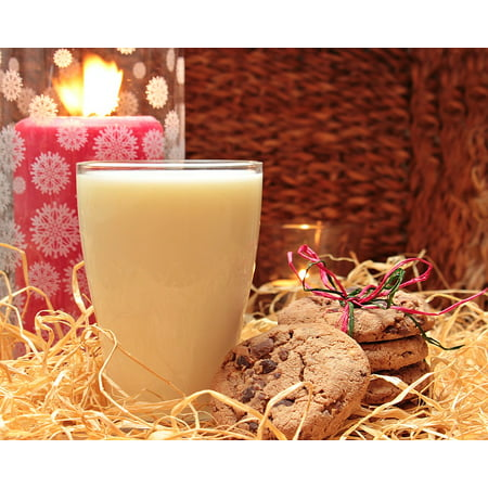 LAMINATED POSTER Milk Glass Of Milk Cookies Poster Print 24 x 36 (Cookie And Glass Of Milk Halloween Costume)