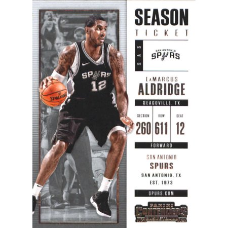 2017-18 Panini Contenders Season Ticket #15 LaMarcus Aldridge San Antonio Spurs Basketball Card