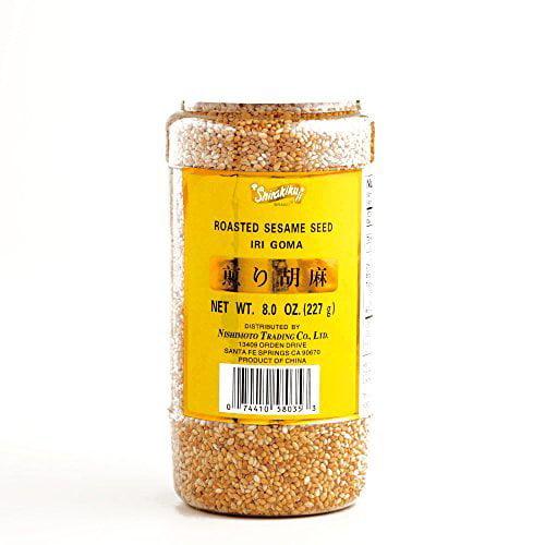 Shirakiku Roasted Sesame Seeds 8 oz (3 Items Per Order)
