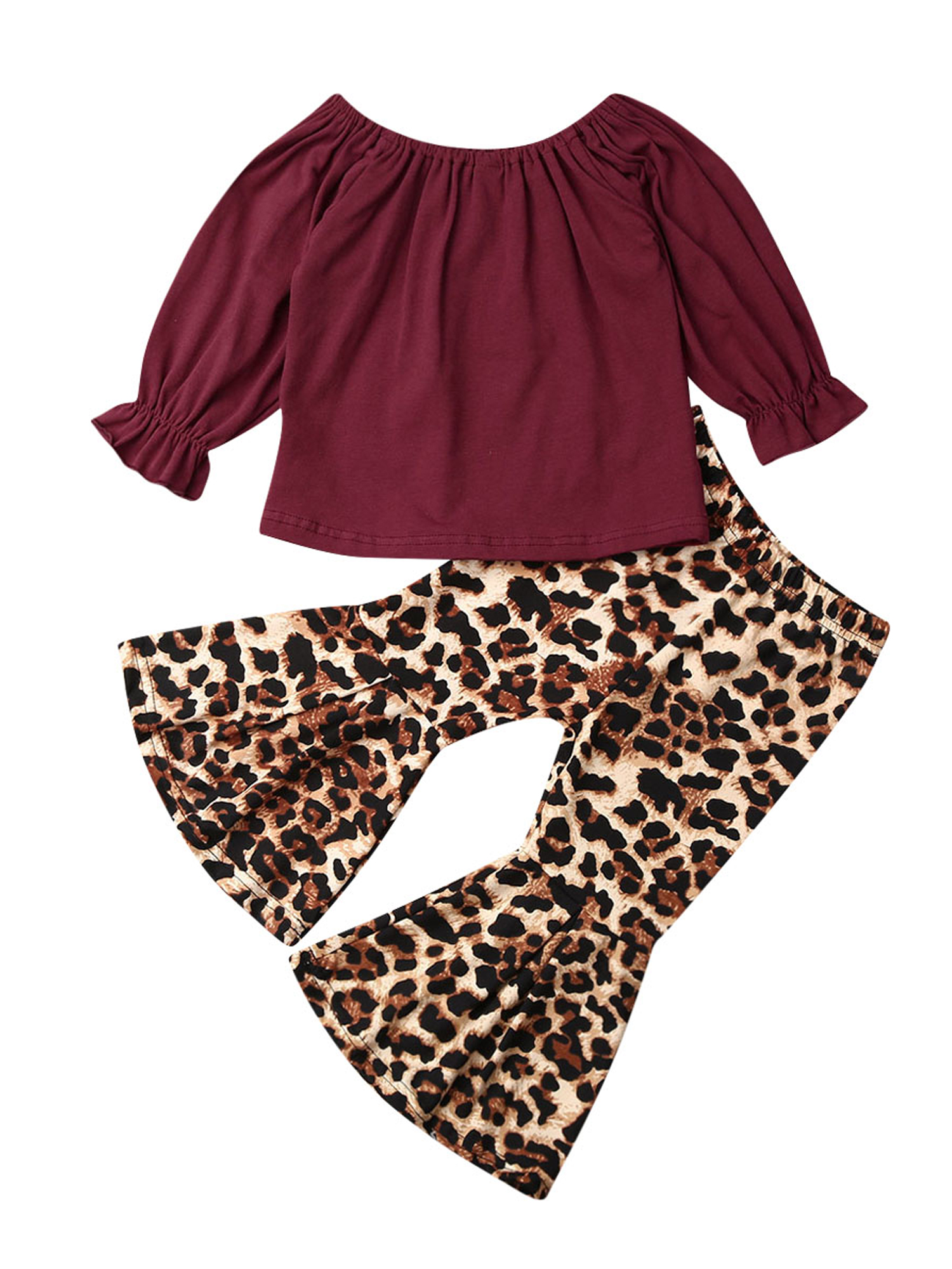 Toddler Baby Girls Sweatshirt Leopard//Tie Dye Casual Blouse Top Fashion Long Sleeve Pullover Shirt Fall Winter Outfit