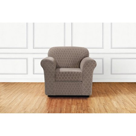 Grand Chair Slipcover - Sure Fit Stretch Grand Marrakesh 2-Piece Chair Slipcover