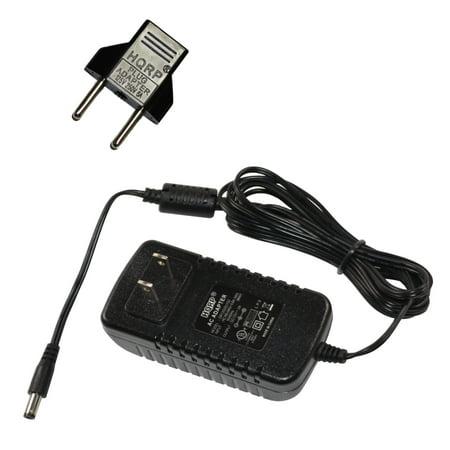 HQRP AC Adapter / Power Supply for Yamaha DGX-220 / DGX220 / DGX-230 /  DGX230 Keyboards Replacement + HQRP Euro Plug Adapter