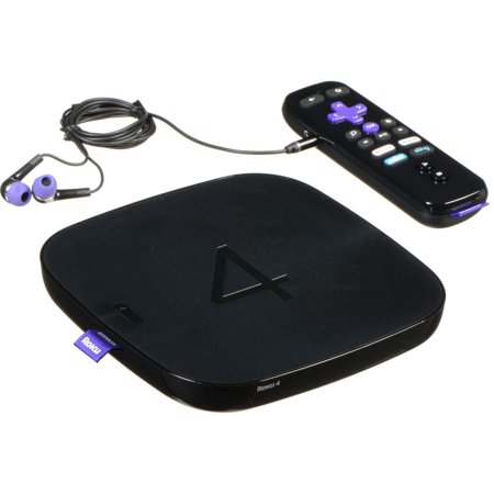 Roku 4   HD and 4K UHD Streaming Media Player with Enhanced Remote (Manufacturer Refurbished)