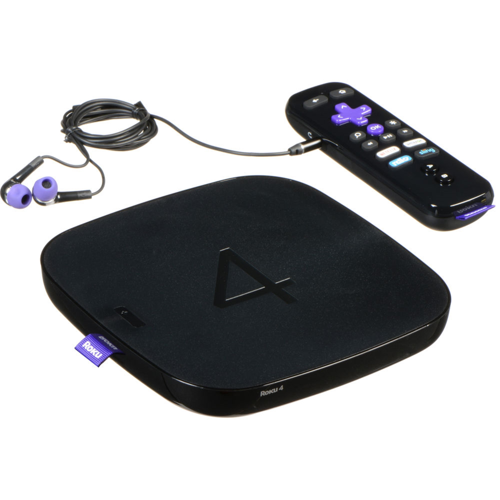 Roku 4 | HD and 4K UHD Streaming Media Player with Enhanced Remote (Manufacturer Refurbished)