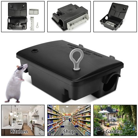 Professional Rat Mouse Trap Box Home Rodent Bait Block Station Case With Key For Rat Mice Little Animals
