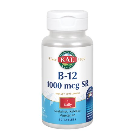Kal - B12 Sustained Release, Tablet (Btl-Plastic) 1000mcg 50ct