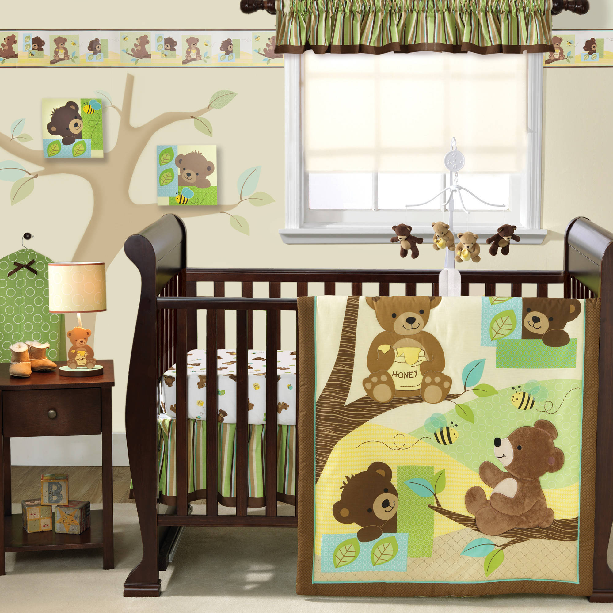 Bedtime Originals by Lambs & Ivy - Honey Bear 3pc Crib Bedding Set