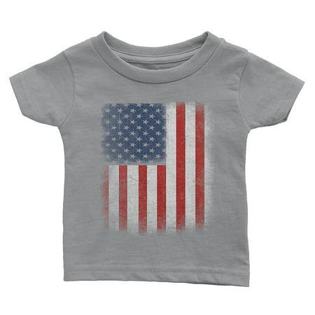 NYC FACTORY American Pride Tee Toddler USA Flag T-Shirt Retro (Retro Toddler Shirts)