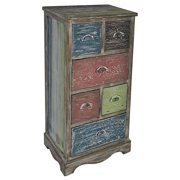 Multicolor Cabinet with 6 Drawers