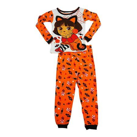 Infant Toddler Girl Dora The Explorer Halloween Sleep Set - Halloween Sleepy Hollow