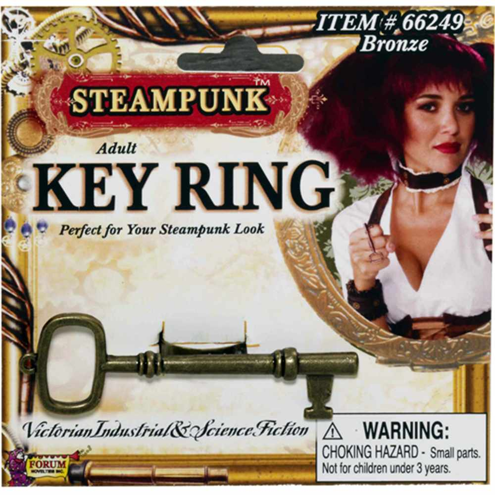 Deluxe Steampunk Cowboy Costume Bronze Brass Key Ring