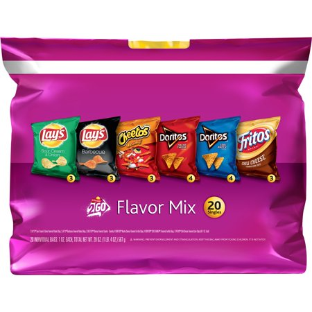Frito-Lay 2Go Flavor Mix Variety Pack, 1 Oz, 20 Ct