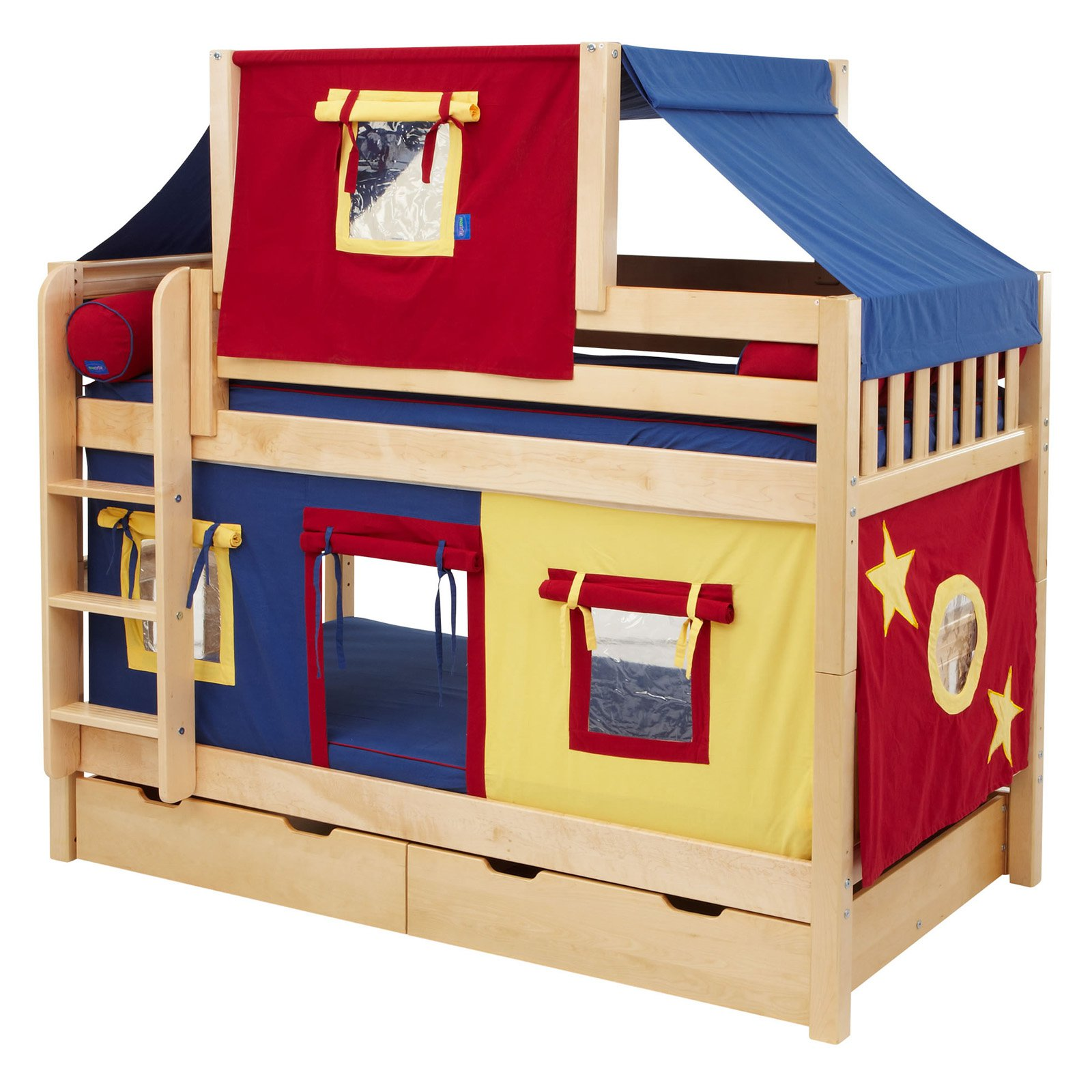Charmant Hot Shot Boy Twin Over Twin Deluxe Tent Bunk Bed   Walmart.com