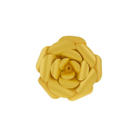 Mega Crafts - 8'' Handmade Paper Flower in Gold | For Home Décor, Wedding Bouquets & Receptions, Event Flower Planning, Table Centerpieces, Backdrop Wall Decoration, Garlands & Parties ()