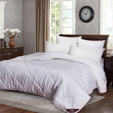 Triumph Hill 100% Australian Wool Bed Comforter 100% Jacquard Cotton Case Medium Weight All Season King Size Machine Washable