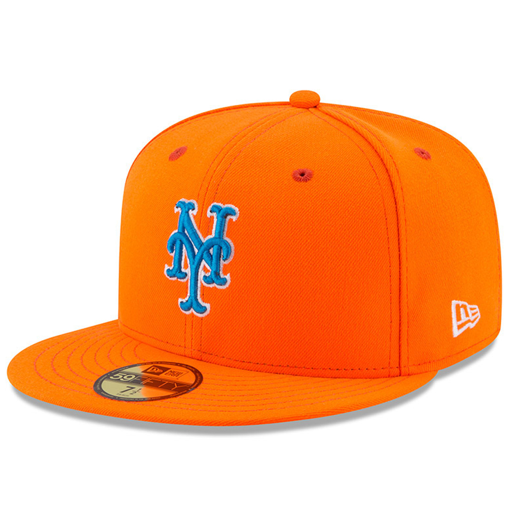New York Mets New Era Youth 2017 Players Weekend 59FIFTY Fitted Hat - Orange