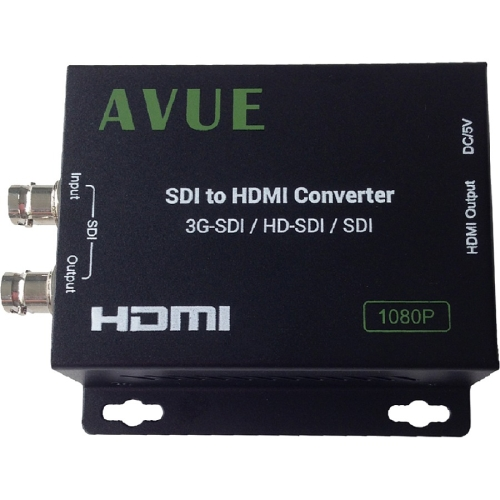 Avue SDH-R01 - SDI to HDMI Converter - Functions: Signal Conversion - 1920 x 1080 - Wall Mountable