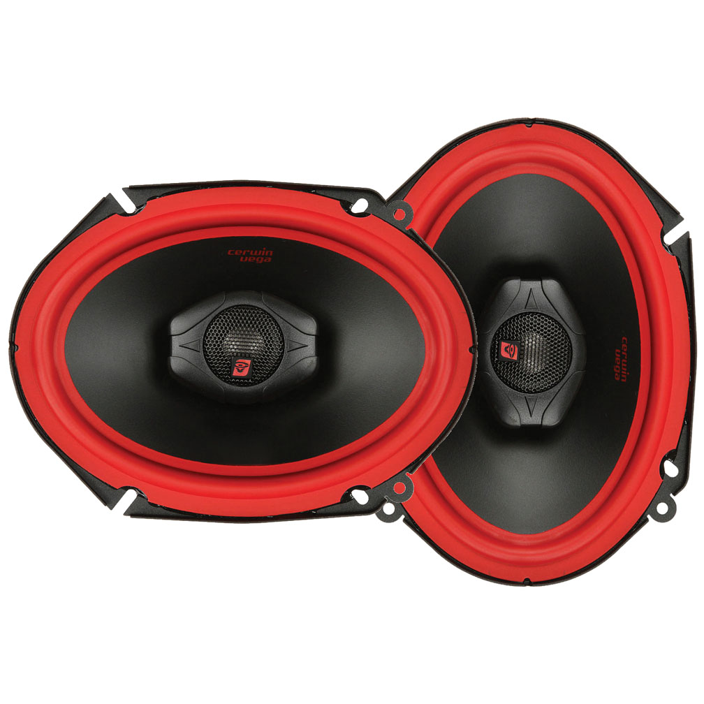 "Cerwin-Vega Mobile V468 Vega Series Coaxial 2-Way 6"" x 8"" Speakers, 400W Max"