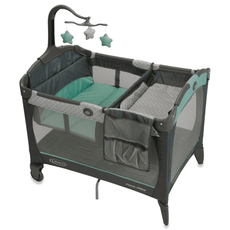Graco Pack 'n Play Change 'n Carry Playard with Bassinet, Manor (Graco Travel Playpen)
