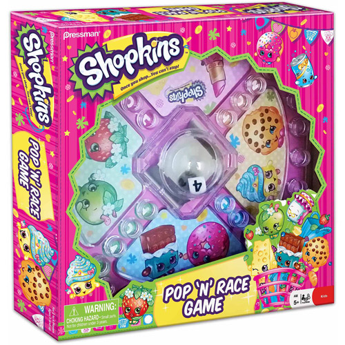 Pressman Toy Shopkins Pop 'N' Race Game