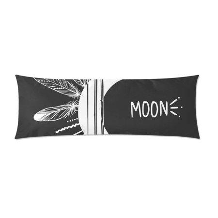 Long Arrow Body - ABPHOTO Moon Arrows Feathers Long Body Pillowcase Pillow Cover Pillowslip 20x60 inch