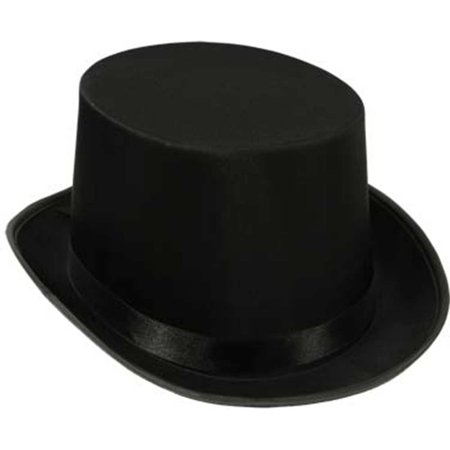 Beistle Deluxe Sleek Satin Costume Top Hat, Black, One Size 23