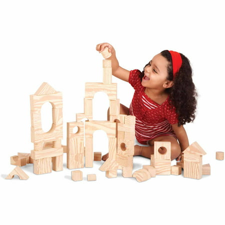 Wood-Like Soft Blocks, 80 Pieces (Word Blocks)