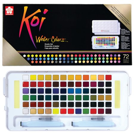 Sakura Koi Watercolors Studio Sketch Box Set, 72-Colors - Sakura Koi Watercolor