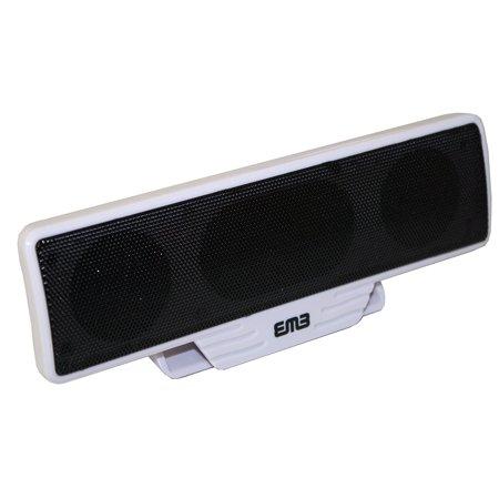 emb es82bt bluetooth wireless small portable speaker w clamp super loud white. Black Bedroom Furniture Sets. Home Design Ideas