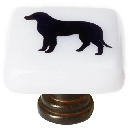 Lab Dog Square Knob in Oil Rubbed Bronze