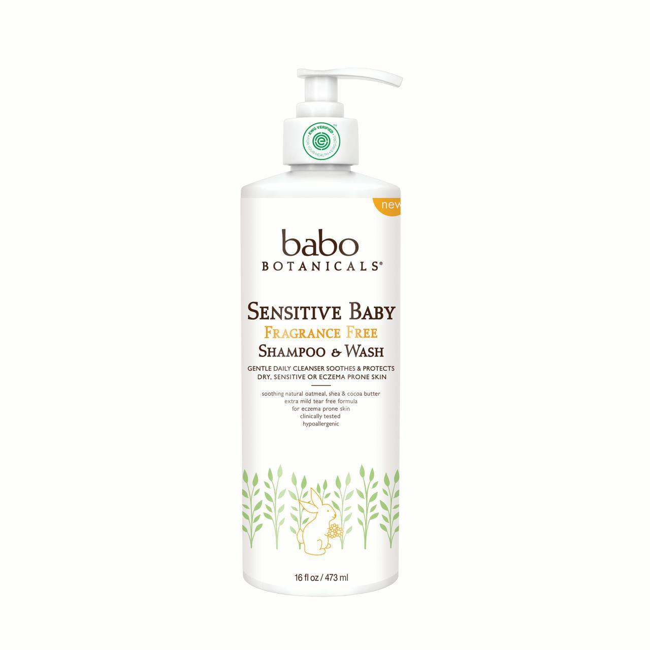 Sensitive Baby Fragrance Free Shampoo & Wash (Family Size) by Babo Botanicals