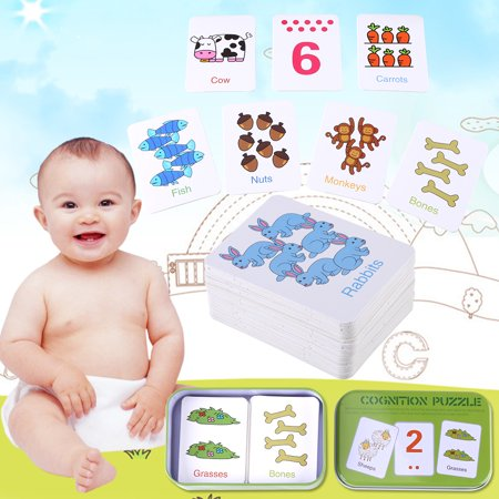 Matching Game,HURRISE Cute Baby Kid Children Early Learning Iron Box Match Game Puzzle Cards Enlightment Toy Boy Girl - Skylanders Boy And Girl Game