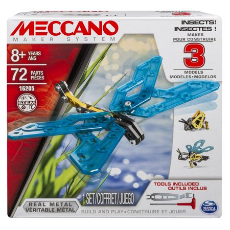 Meccano, 3 Model Building Kit, Insects