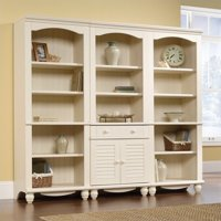 Product Image Sauder Harbor View Library Wall Bookcase In Antiqued White
