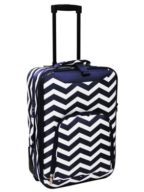 Chevron Print 20 Rolling Carry-On Luggage Suitcase