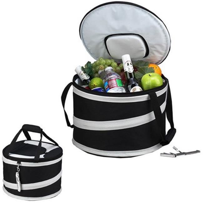 Picnic Ascot 494-BLK Compact Pop-Up Cooler Tub - Black-Grey