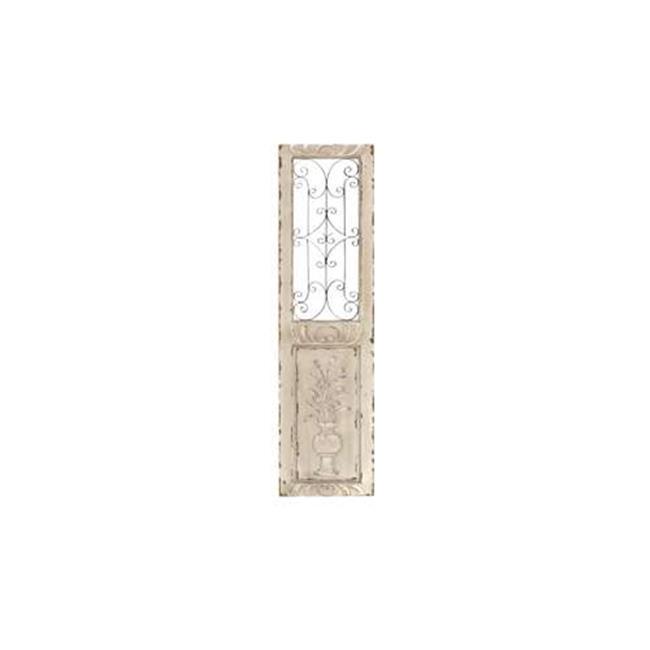 Benzara 52733 Wood Metal Wall Panel 62 inch H  16 inch W Wall Decor