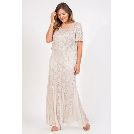 Rm Richards Rm Richards Long Mother Of The Bride Dress Plus Size