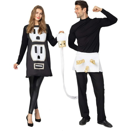 Make Plug Socket Halloween Costume (Gold Toy USB/Light Plug and Socket Couple Set Halloween Costume for)