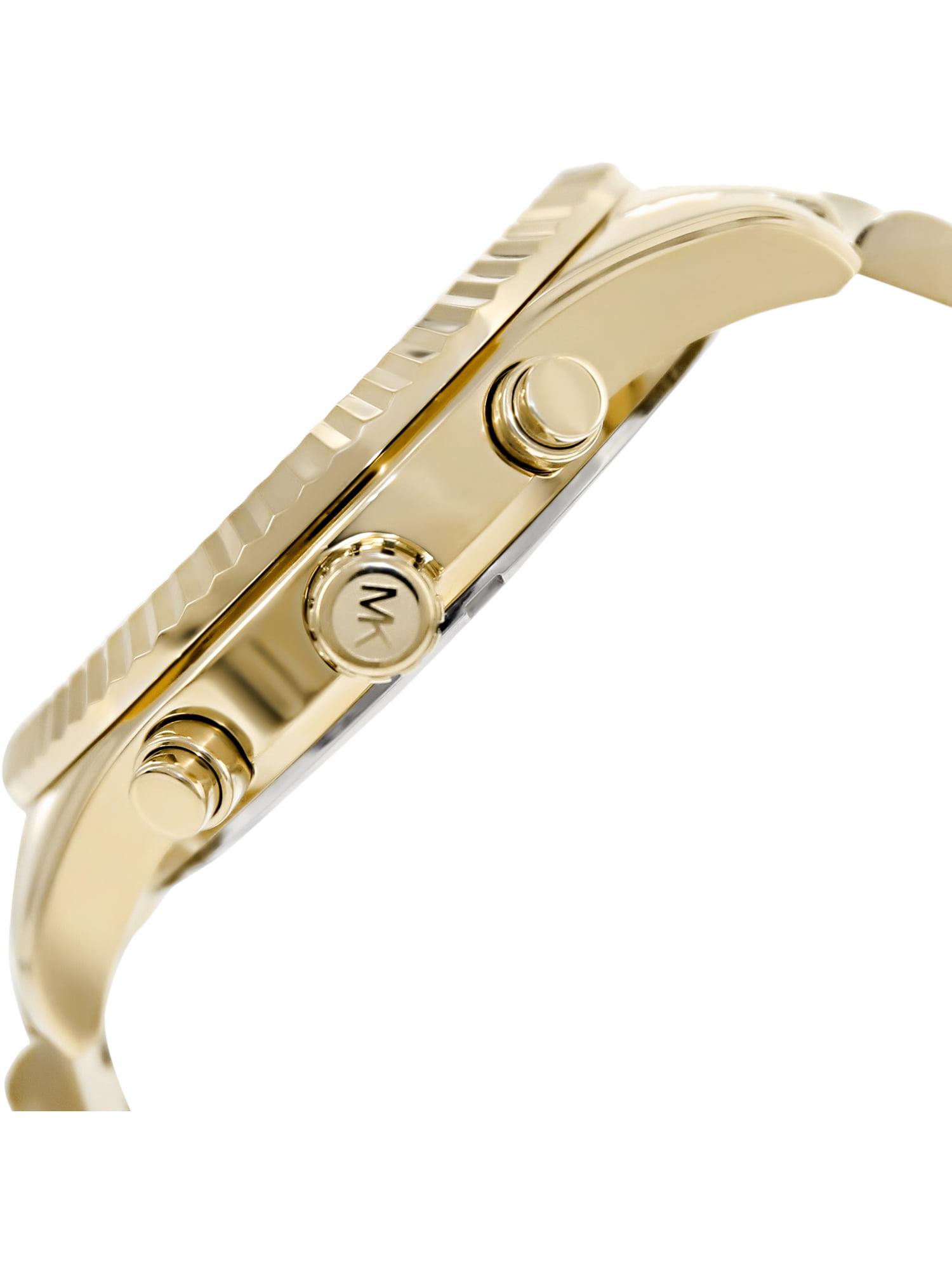 f84410574814 Michael Kors - Men s Lexington Gold-Tone Chronograph Watch